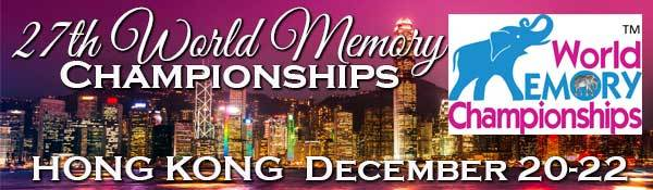 The Cash Prize for the World Memory Championships 2018 in Hong Kong on 20th Dec is over 200,000 HK$